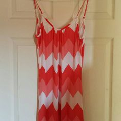 Beautiful coral maxi dress! Long maxi, comfy and adorable! Worn once. ...I'm 5ft 7in......and it comes to my ankles.  Love it! Body Central Dresses Maxi