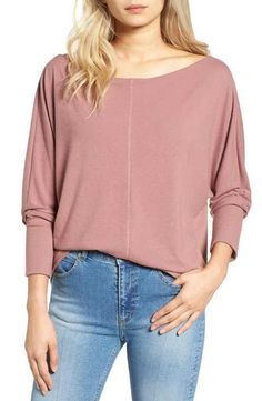 Main Image - Project Social T Seam Front Dolman Tee Business Casual Womens Fashion, Best Brand, Nordstrom, Tees, Clothes, Shopping, Christmas 2016, Curves, Neckline