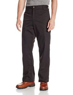 Men's 35-34 Black Flame Resistant Relaxed Fit Twill Pant, Size: 35W x 34L