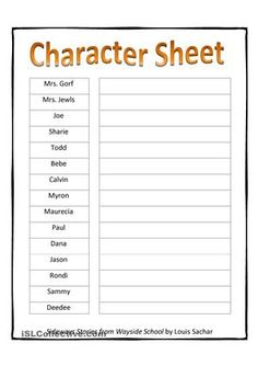 create a character worksheet writing pinterest worksheets and character development. Black Bedroom Furniture Sets. Home Design Ideas