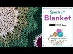 Use first twelve rounds for lovey blanket  How to Crochet An Afghan: Round  Spectrum Afghan - YouTube
