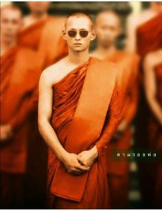 Monk in shades.