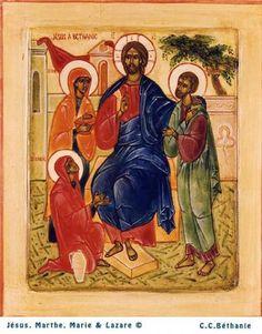 Marie marthe lazarre avec jesus 1