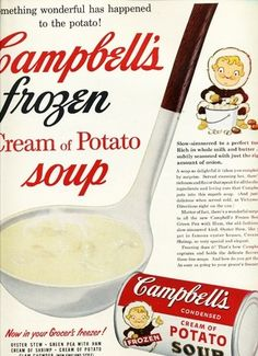 Campbell Soup Big Ladle Frozen Potato Soup Eskimo Kid Art Vintage Ad 1955 | eBay
