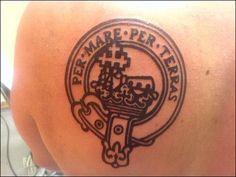 Thick black line work buchanan clan crest tattoos for Buchanan clan tattoo