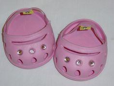 Build A Bear Workshop Shoes Pink Princess Foam Sandals Clogs Beach Gems BABW #BuildABear