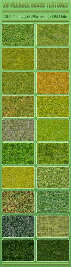 20 Tileable Grass Textures — Photoshop PSD #photoshop #tileable • Available here → https://graphicriver.net/item/20-tileable-grass-textures/3815308?ref=pxcr