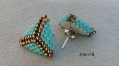 Beaded Rings, Beaded Jewelry, Jewellery, Peyote Stitch, Brick Stitch, Beading Tutorials, Turquoise Bracelet, Projects To Try, Cufflinks