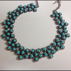 Brand newHP WARDROBE GOALS PARTY 09/07/15  Very elegant and cute bohemian necklace. Aqua colored. 19.29*0.98 inch Jewelry