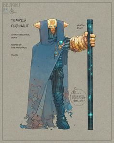 SIDEWAYS | Tempus Fuginaut | KENNETH ROCAFORT Character Designs For 'New Age of DC Heroes' SIDEWAYS With MORRISON, JORDAN, DIDIO