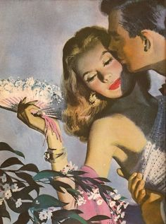 "By John Whitcomb, from ""A Woman to Remember,"" Ladies Home Journal, November 1947"
