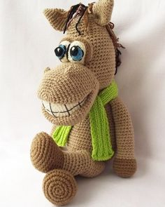 Free Crochet Amigurumi Animals Pattern | Horse Crochet Pattern, Amigurumi Horse, Crochet Pattern Animal, Toy