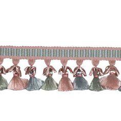 PASSEMENTERIE CHARME PETAL Pink  Silk Tassel by elegantfabrics1, $849.99
