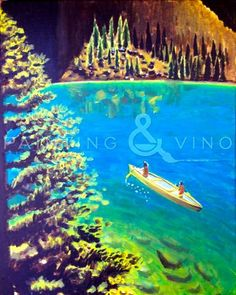 "Weekend Plans? Join us this Saturday 6/13/2015 to paint ""Canoeing"" at Hilton Del Mar (Del Mar) from 4-7pm. Click the photo to register now!"
