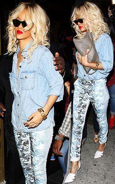 Rihanna in denim
