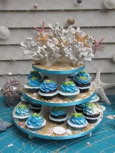 Ocean Cupcake Stand...I want, I want, I want, I want!