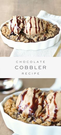 May 2020 - This chocolate cobbler is a wonderful rich dessert that is a must for all of the chocoholics. This make ahead dessert is served warm and best topped with a generous helping of ice cream! Make Ahead Desserts, Sweet Desserts, Easy Desserts, Sweet Recipes, Delicious Desserts, Ice Cream Desserts, Best Dessert Recipes, Snack Recipes, Healthy Recipes