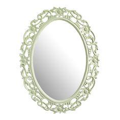 Einen Hauch von edlem Prunk versprüht dieser Spiegel von AMBIA HOME. Der runde Rahmen mit verspielten Ranken in hellem Grün zieht alle Blicke auf sich und setzt Ihr Spiegelbild gekonnt in Szene. Das Design erinnert dabei an die romantischen und eleganten Zeiten des Barock. Mit einer Höhe von ca. 120 cm eignet sich der Spiegel als schöner Begleiter in Schlafzimmer oder Flur. Verlassen Sie Ihre Wohnung mit einem Lächeln!