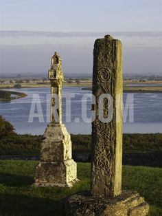 Gravestones at Clonmacnoise monastery Photographic Print by Doug Pearson at Art.com