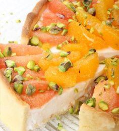Tarta de cítricos frescos #receta #light