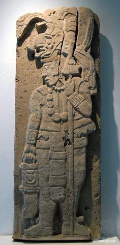 Maya Warrior ~This stone carving depicts an ancient Maya man carrying a spear and a spear thrower. Tamayo museum of Oaxaca. Photo by Thomas Aleto İlginç taş çanta ve Mayalar. Ancient Mysteries, Ancient Ruins, Ancient Artifacts, Mayan History, Ancient History, Art History, Maya Civilization, Aztec Art, Mesoamerican
