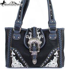 8014-Montana West Buckle Handbag ABB8014 Black