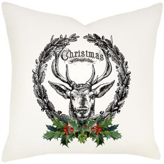 Add woodland and holiday charm to your sofa or arm chair with this lovely pillow, matched perfectly with a cozy fleece throw. Product...