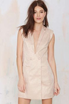Nasty Gal Heavy Metallic Jacquard Jacket Dress | Shop What's New at Nasty Gal