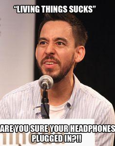 Linkin Park #mikeshinoda #funny