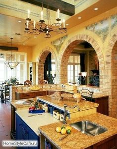 Genial Countertops And Backsplashes    Rustic Italian Kitchen With Natural Wood  Cutting Board