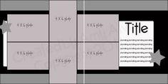 2 page layout, 6 photo, Photos: 2 vertical 4 horizontal