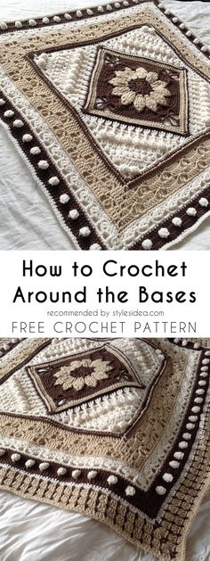 Around the Bases Blanket [Free Crochet Pattern] | Crafts Ideas