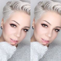 1 Pixie Haircuts You'll See Trending in 2019 - Hairstyles Trends Short Sassy Hair, Short Grey Hair, Short Hair Cuts, Love Hair, Great Hair, Short Pixie Haircuts, Silver Hair, Hair Trends, Hair And Nails