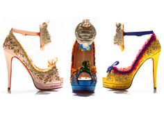 Christian Louboutin Marie Antoinette Collection! I especially love the pink pair!