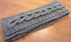 Ravelry: Wrynne's Crochet Cable Scarf