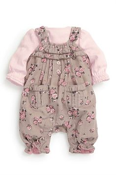 Newborn Clothing - Baby Clothes and Infantwear - Next Mink Ditsy Print Cord Dungaree And Bodysuit Two Piece Set Winter Outfits, Kids Outfits, Cute Outfits, Winter Clothes, Newborn Outfits, Newborn Clothing, Girl Clothing, Future Daughter, Future Baby