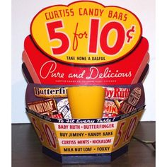 1930s Curtiss Candy Counter Display Lamp