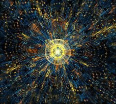 Space disco abstract fractal art print for sale created by Radoslav Nedelchev