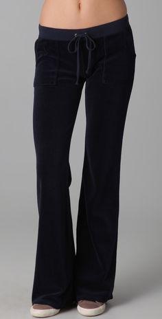 Juicy Couture Velour Snap Pocket Pants thestylecure.com