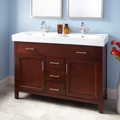 "48"" Bates Double Vanity Cabinet - Walnut"