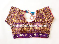 Designer Readymade Saree Blouse -Indian Kutchi Handmade embroidery Blouse
