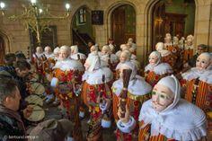Top 10 Carnival traditions: Gilles at Binche Carnival, Belgium. Photo by Carnaval de Binche