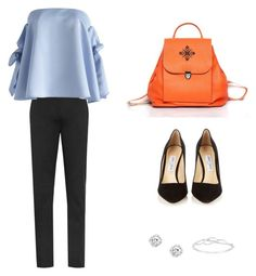 """Orange"" by iutta ❤ liked on Polyvore featuring Jimmy Choo and Chicwish"