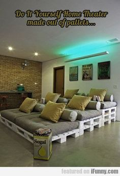 Do It Yourself Home Theatre Made Of... #diyhomedecorpicturesawesome