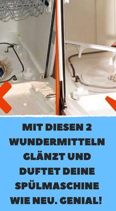 Mit diesen 2 Wundermitteln glänzt und duftet deine Spülmaschine wie neu. Genial!