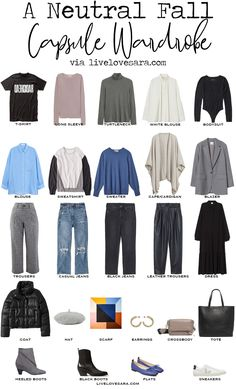 Capsule Wardrobe Mom, Capsule Outfits, Fall Wardrobe, Fall Outfits, Wardrobe Basics, Cool Color Palette, Bodysuit Blouse, Aesthetic Grunge Outfit, Neutral Outfit