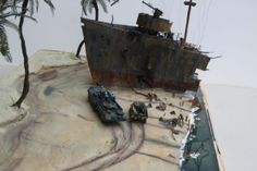 Shipwreck 1/72 Scale Model Diorama