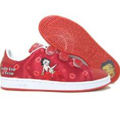 6d93abb8d834 Adidas Womens Stan Smith II CF R4 - Betty Boop (uni red   poppy   black)  465564 -  99.99
