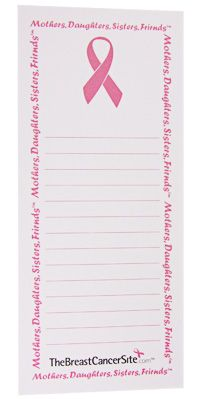 Pink Ribbon Magnet Notepad at The Breast Cancer Site