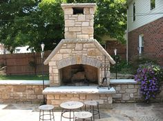 Country Villa Tumbled Veneer Fireplace